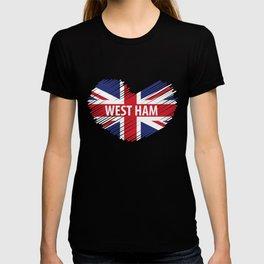 West Ham Gift, West Ham London, West Ham British Flag T-shirt