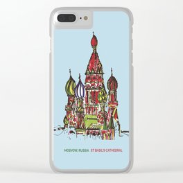 St Basil's Cathedral Clear iPhone Case
