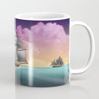 ships Mugs featuring Rigged Ships by Yoly B. / Faythsrequiem