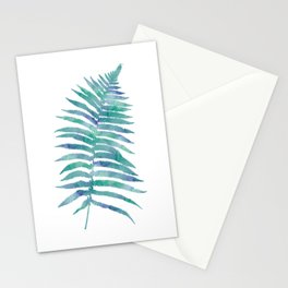 Blue Green Tropical Fern Stationery Cards