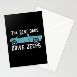 The Best Dads Drive Jeeps Stationery Cards