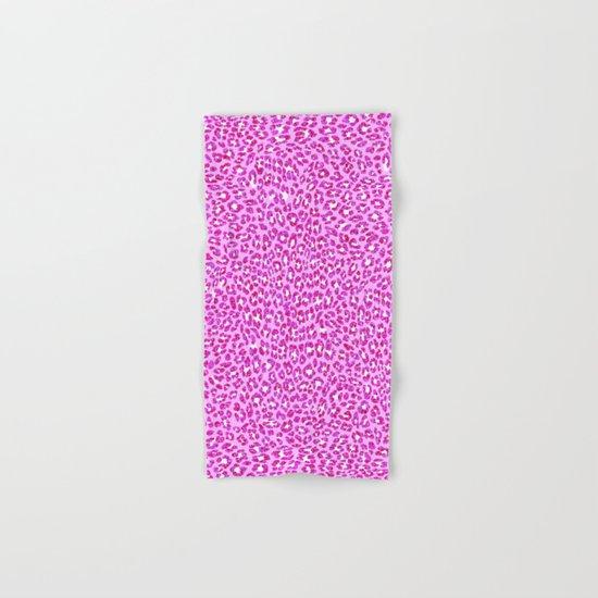 Light Pink Glitter Cheetah Print Hand & Bath Towel