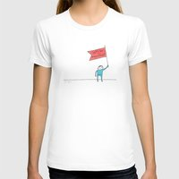let's be magnificent Womens Fitted Tee MEDIUM White