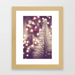 Seasons Greetings 1 -- Muted Soft Lights and Sparkle Framed Art Print