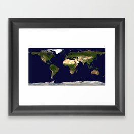 big world if you have to paint it Framed Art Print