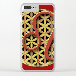 Flower of Life LEO Astrology Design Clear iPhone Case