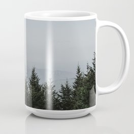 Mount Mitchell with clouds Coffee Mug