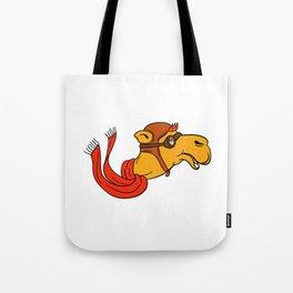 Aviator Camel Goggles Scarf Cartoon Tote Bag