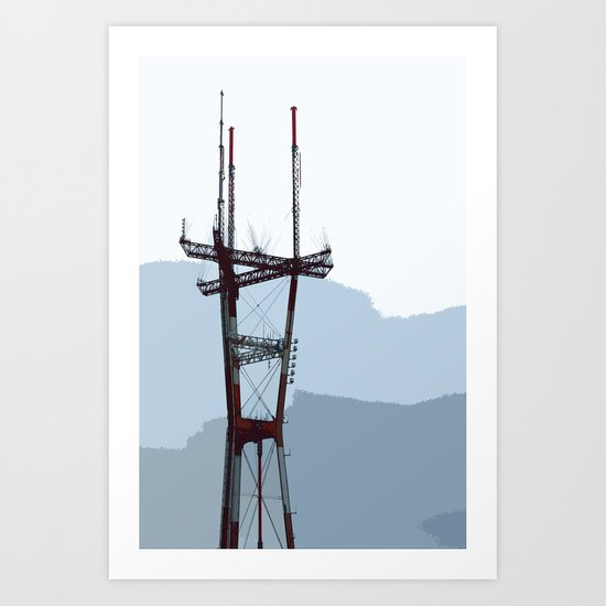 Sutro Tower Art Print