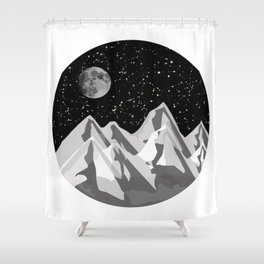 The mountains are calling & I must go Shower Curtain