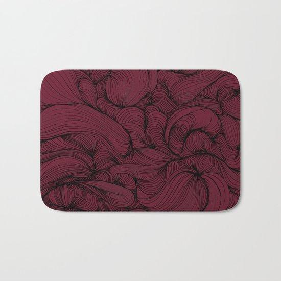 Rose Petal Red Bath Mat