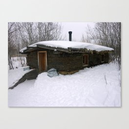 Old Sod House Canvas Print