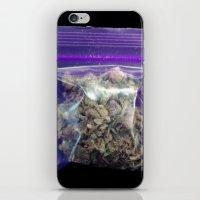 cannabis iPhone & iPod Skins featuring gram of cannabis by HiddenStash Art