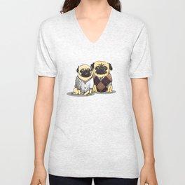 Sweater Pugs Unisex V-Neck
