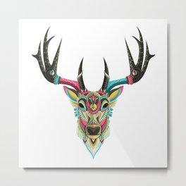 Color Deer Metal Print