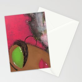 Pink and Green Sassy Girl Stationery Cards