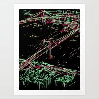brooklyn Art Prints featuring brooklyn by barmalisiRTB