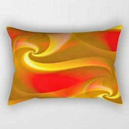 Whirly Curly (orange) Rectangular Pillow