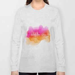 Love Beat Watercolor back Long Sleeve T-shirt
