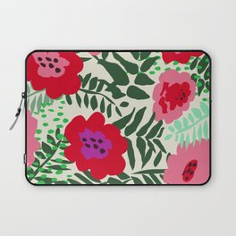 color matters: happy florals in pink light backround Laptop Sleeve