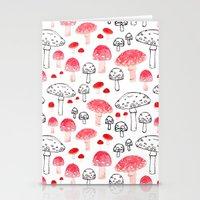 mushroom Stationery Cards featuring mushroom by viktoria.rodek