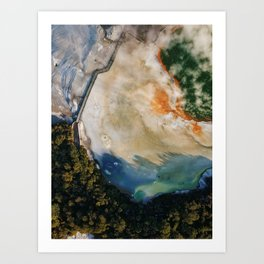 Champagne Pool II - Aerial Wall Art, Volcanic Print, Colorful Drone Photography, Aerial New Zealand Art Print