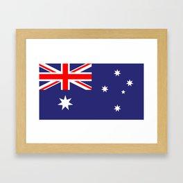 Flag of Australia Framed Art Print