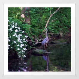 The Great Blue Heron Art Print