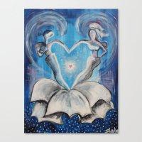 wedding Canvas Prints featuring Wedding by sladja