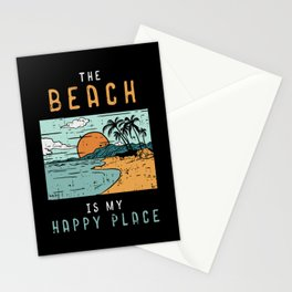 Beach QuoteDesign: The Beach is my Happy Place Stationery Cards
