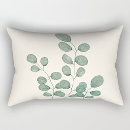 Watercolor Eucalyptus Rectangular Pillow