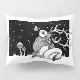 Owl Elk and Moth - Copics and Ink Pillow Sham