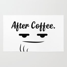 Before & after coffee Rug