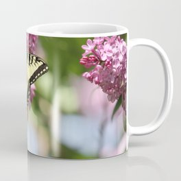 Swallowtail butterfly On Lilacs Coffee Mug
