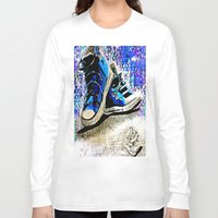 converse Long Sleeve T-shirts featuring Converse Blues by Frankie Luna III