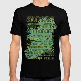32 Counties Of Ireland T-shirt