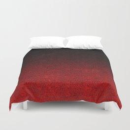 Red & Black Glitter Gradient Duvet Cover