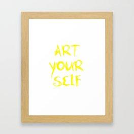 Art Your Self Framed Art Print