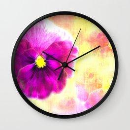 Dreaming of Pansies Wall Clock