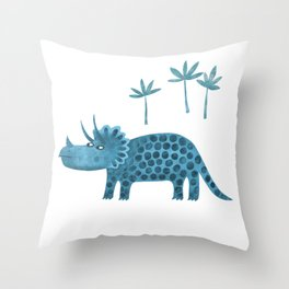 Triceratops Dinosaur Throw Pillow