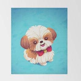 Shih Tzu Love Throw Blanket