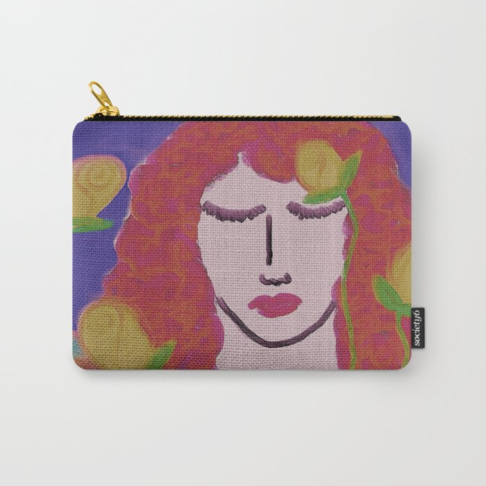 Yellow Roses Abstract Digital Painting  Carry-All Pouch