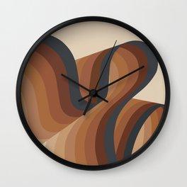 Cosmic Waves Wall Clock