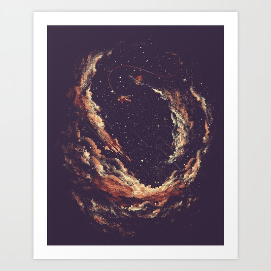 Cosmic Smoke II Art Print