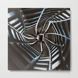 Twisted Cyberpunk Tunnel Metal Print