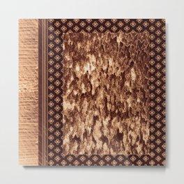 elegant brown pattern Metal Print