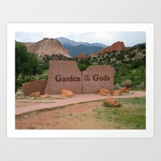 Garden of the Gods - Colorado Art Print