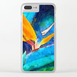 Bird Of Paradise Plant art Clear iPhone Case