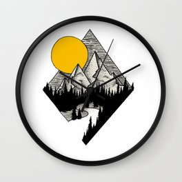 Diamond Mountain Wall Clock