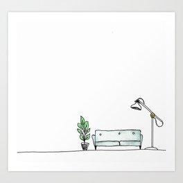 Grown Up Apartment Art Print
